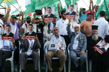 الحركة الإسلامية في فلسطين تكرم مرسي وتمنحه لقب نصير الأقصى