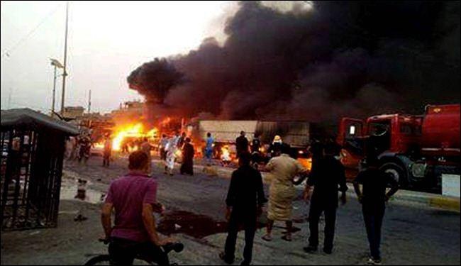 مقتل 11 شخصاً وإصابة 33 بإنفجار سيارتين مفخختين ببغداد