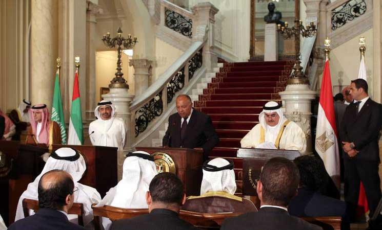 وزراء خارجية دول حصار قطر يجتمعون مع أبو الغيط الأحد