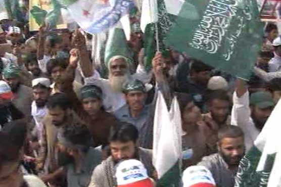 مظاهرات في باكستان تطالب الحكومة المشاركة بعاصفة الحزم