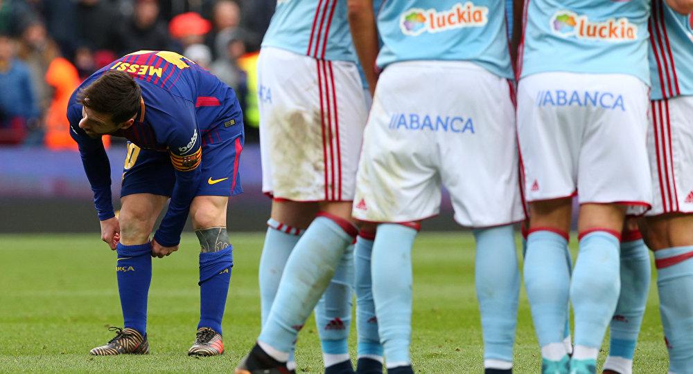 برشلونة يكتفي بالتعادل 2-2 مع سيلتا وميسي يعود للتهديف