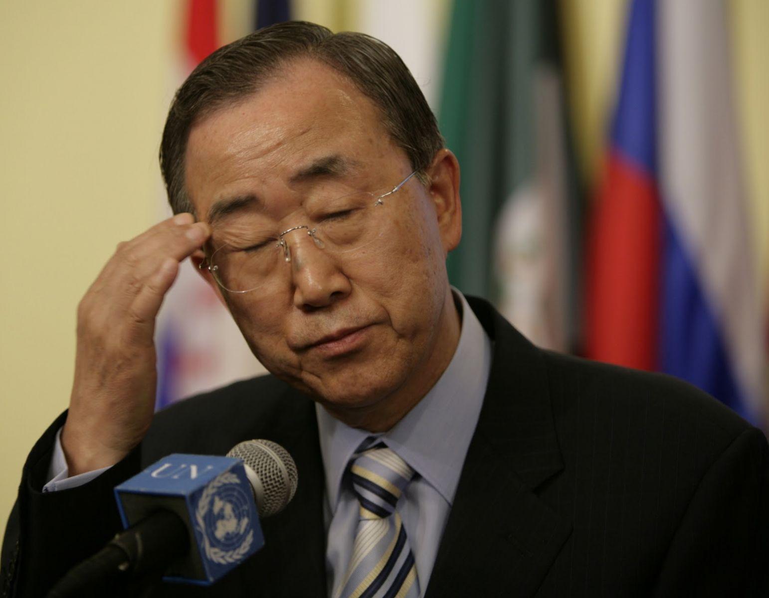 كي مون يزعم أن رهن الحل السياسي في سوريا برحيل الأسد غير مقبول