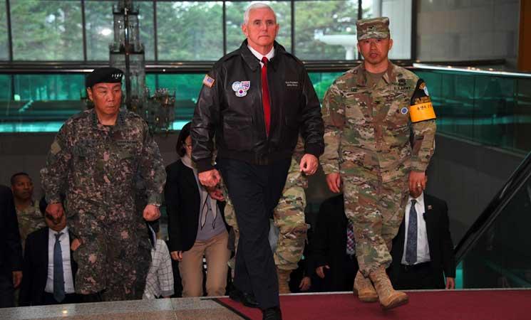 """نائب الرئيس الأمريكي: """"كل الخيارات على الطاولة"""" بشأن كوريا الشمالية"""