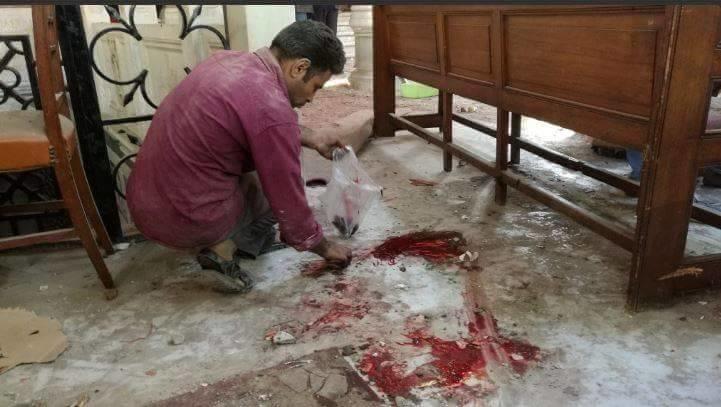 21 قتيلاً و42 جريحاً بانفجار في كنيسة بمصر