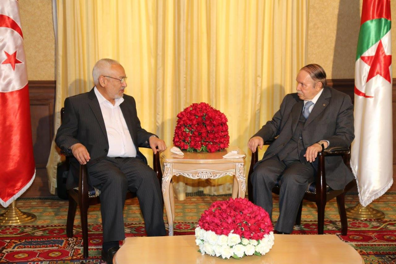 بوتفليقة يلتقي الغنوشي قبل انتخابات في الجزائر بمشاركة الإسلاميين