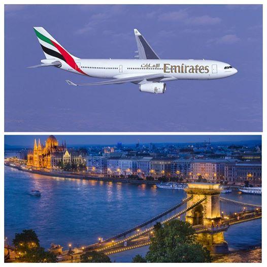 رحلات يومية لطيران الإمارات إلى بودابست