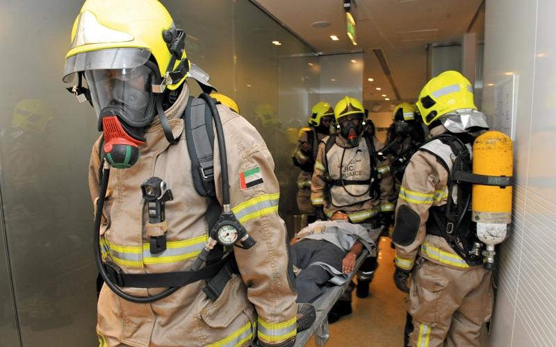 وفاة 4 وإصابة 66 شخصاً في 232 حريقاً بدبي خلال 6 أشهر
