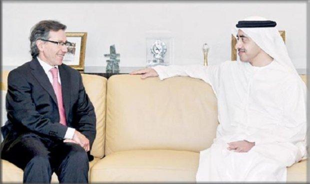 عبدالله بن زايد يبحث الأوضاع في ليبيا مع المبعوث الأممي إليها