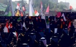 عشرات من الشيعة في كربلاء يتظاهرون ضد قائمة الإمارات