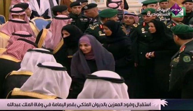 لأول مرة المرأة السعودية في البيعة والعزاء