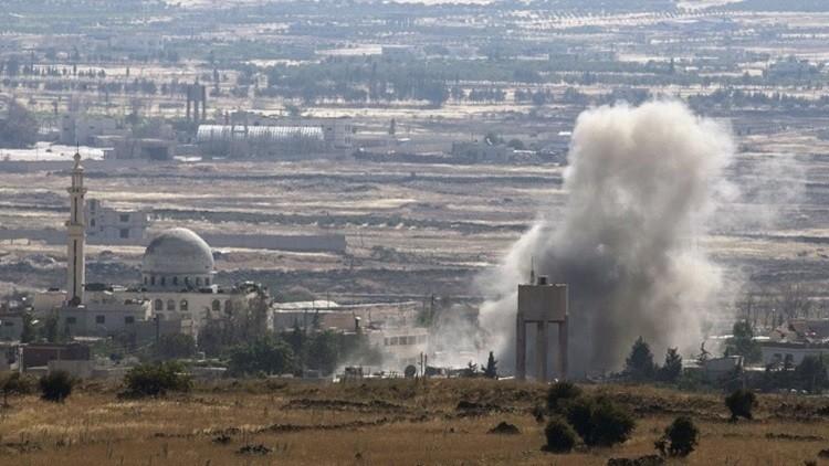 قصف جوي إسرائيلي لموقع عسكري لجيش النظام بالجولان