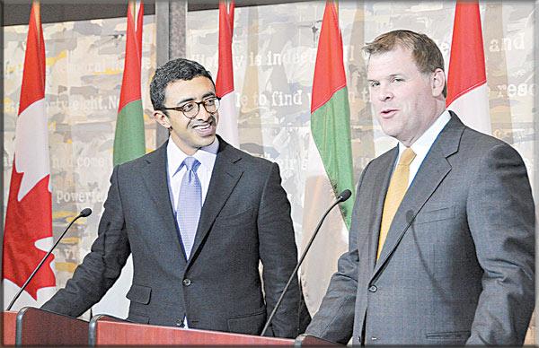 بيان إماراتي كندي مشترك يشدد على التعاون الأمني بينهما