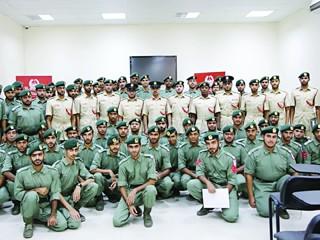 تخريج 64 منتسباً في أمن المواصلات بشرطة دبي