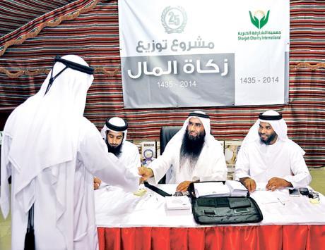 5 ملايين درهم زكاة مال توزعها خيرية الشارقة