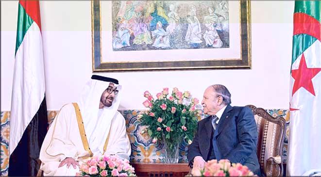 ولي عهد أبوظبي في الجزائر لاحتواء الأزمة الليبية