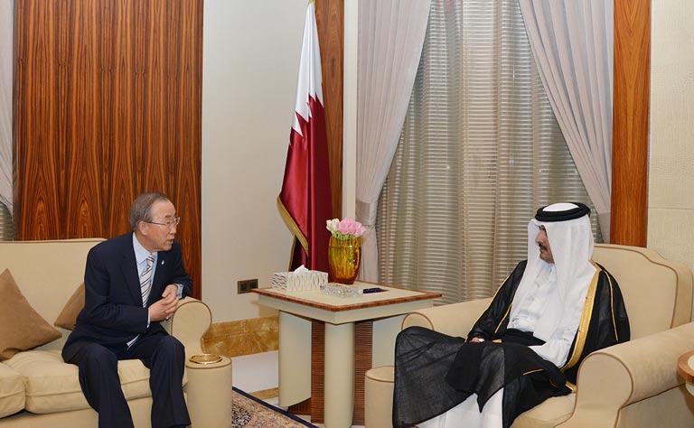 أمير قطر يدعو إلى تحرك دولي سريع لوقف الجرائم الإسرائيلية في غزة 