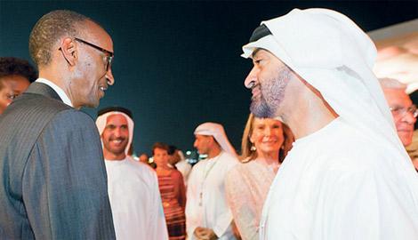 محمد بن زايد يبحث مع رئيس رواندا القضايا ذات الاهتمام المشترك