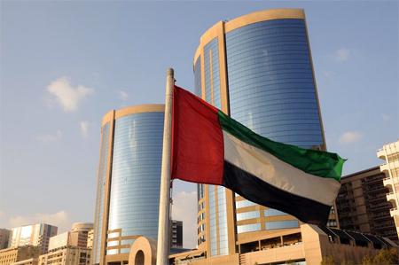 حكومة دبي تعلن عن تشكيل أكبر علم إماراتى ببطاقات الأعمال