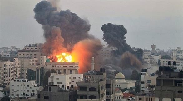 سلسلة غارات إسرائيلية على أنحاء متفرقة من قطاع غزة