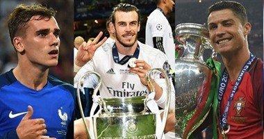 رونالدو وبيل وجريزمان يتنافسون على جائزة أفضل لاعب في أوروبا