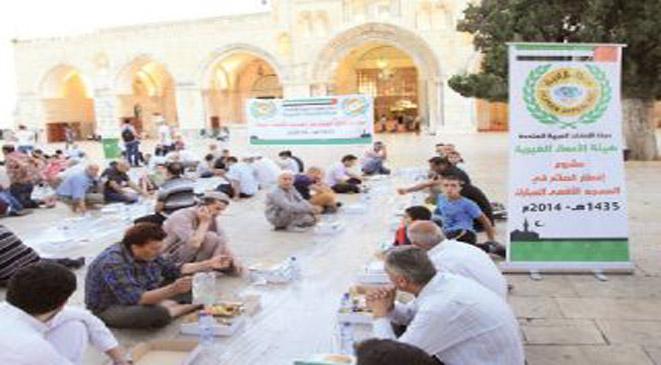 الإمارات تخصص 150الف وجبة رمضانية للمسجد الأقصى