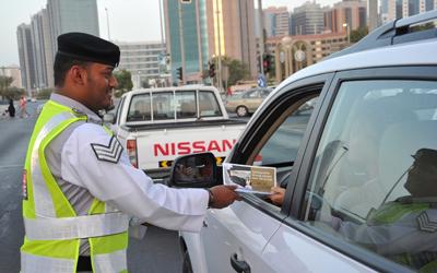 25 نقطة توعية مرورية  في إمارة أبوظبي خلال رمضان