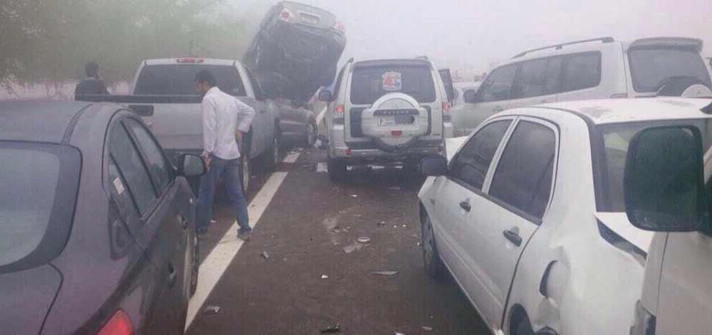 شرطة أبوظبي تـُجري تمريناً لـ «حوادث المرور أثناء الضباب»