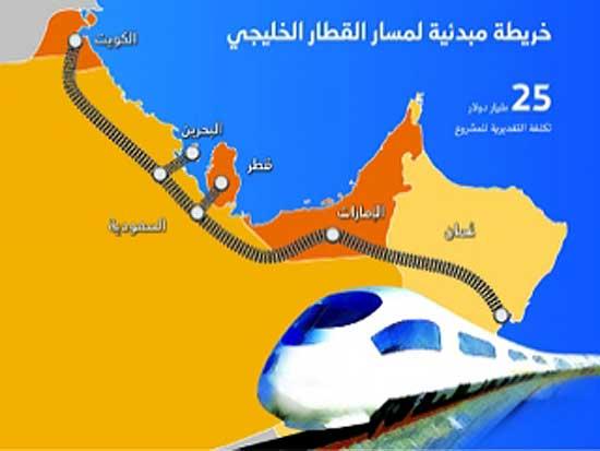 الإمارات وعمان تبدآن تنفيذ قطار الخليج والسعودية تلتحق بهم قريباً