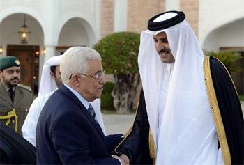 عباس يهاتف أمير قطر لبحث الأوضاع الفلسطينية