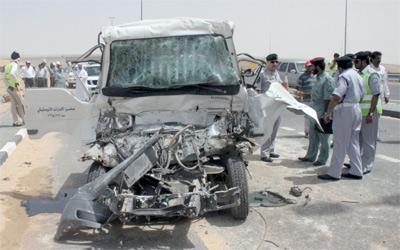 الحوادث المرورية تحصد عشرة أشخاص خلال العيد