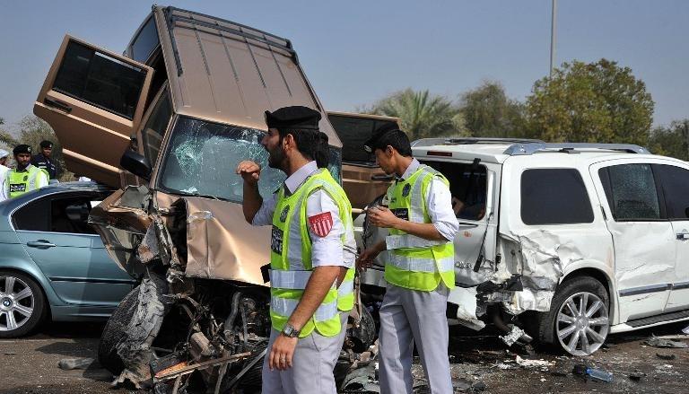 وفاة 22 شخصاً بحوادث مرورية في عجمان خلال 2014