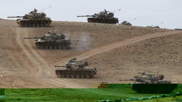 انتشار دبابات تركية على الحدود مع سوريا