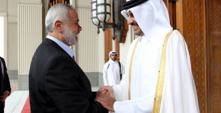 هنية يطلع أمير قطر على اتفاق المصالحة الفلسطينية