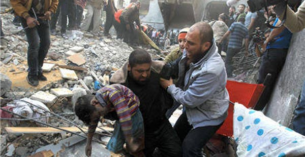 583 شهيدا و 3640 جريحاً حصيلة العدوان على غزة