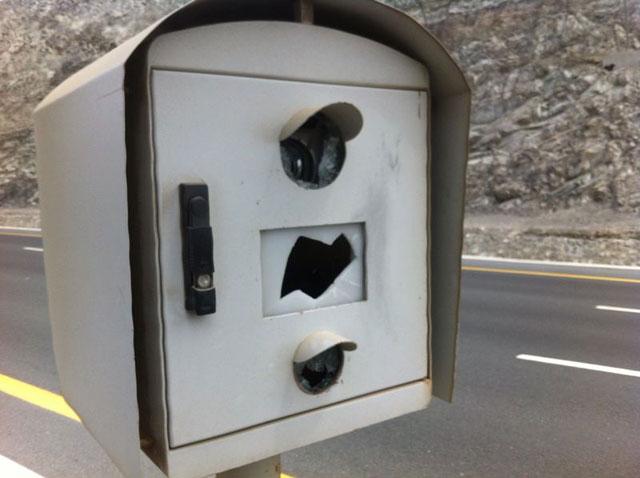 القبض على مواطن أتلف جهازي رادار بالفجيرة
