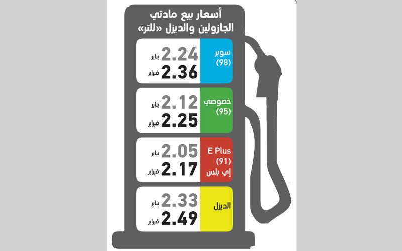 زيادة في أسعار «البنزين» تصل إلى 13 فلساً خلال فبراير