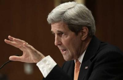 كيري يحذر مجلس الشيوخ من سيطرة حماس على السلطة حال سقوط عباس