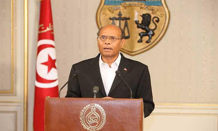 الرئيس التونسي السابق المرزوقي قلق من الفشل الاجتماعي للحكومة