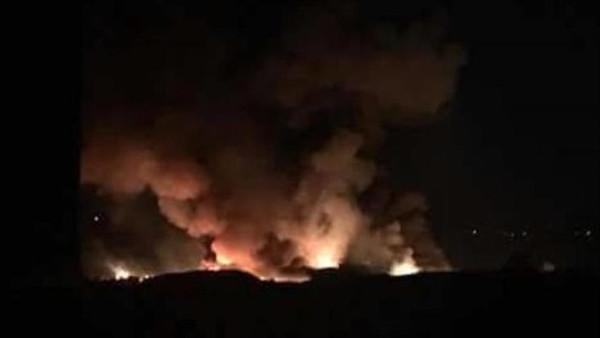قصف لمطار عسكري في دمشق.. والنظام يحمل إسرائيل المسؤولية
