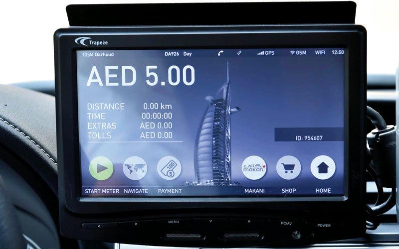 عدّادات ذكية في مركبات الأجرة بكلفة 69 مليون درهم في دبي