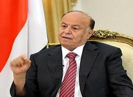 الرئيس اليمني يدعو الحوثيين إلى الانسحاب من عمران وتسليم السلاح