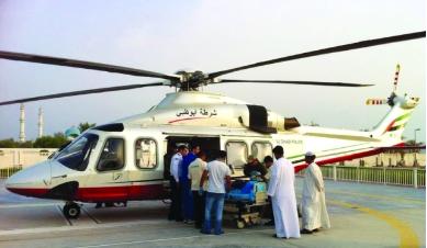 إسعاف شرطة أبوظبي الجوي يسعف 6 مواطنين