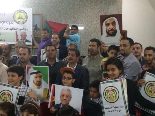 الجالية الفلسطينية تشيد بمواقف الإمارات في دعم شعبهم