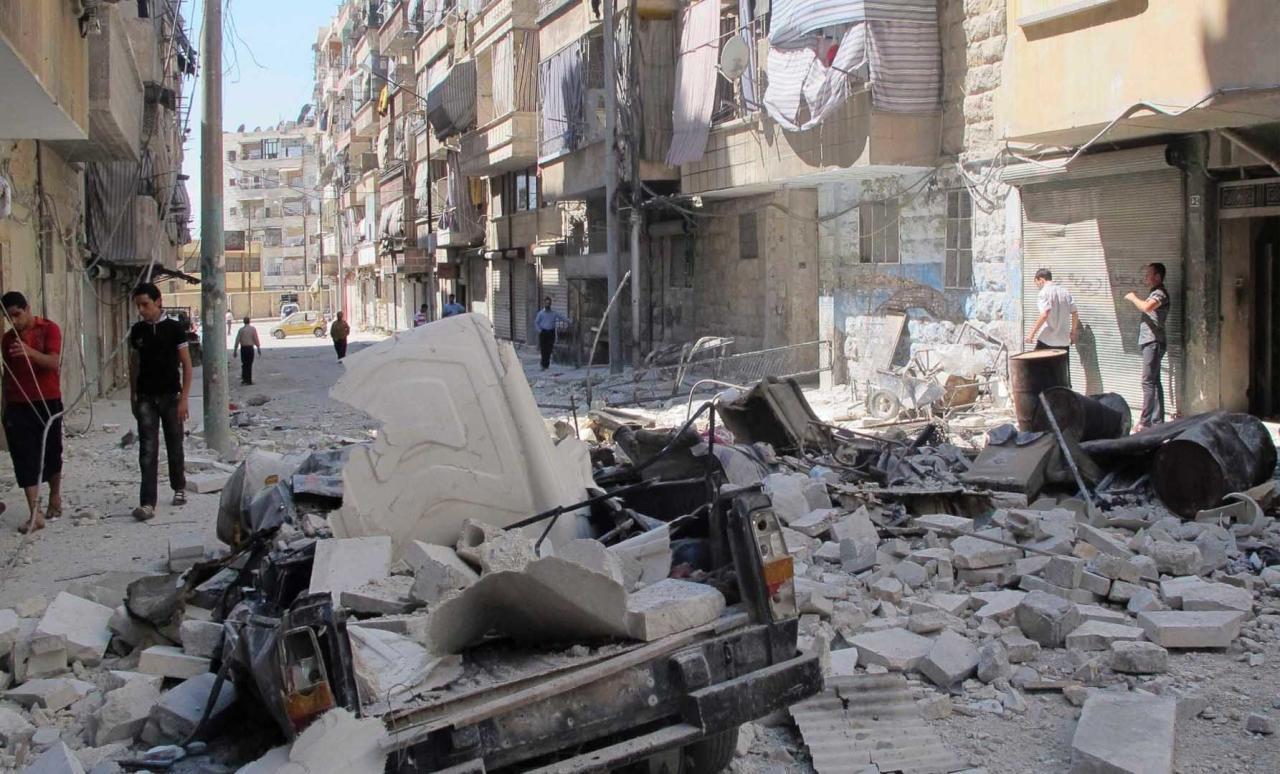 روسيا ترتكب مجزرة بحي السكري في حلب وتقتل 40 مدنياً