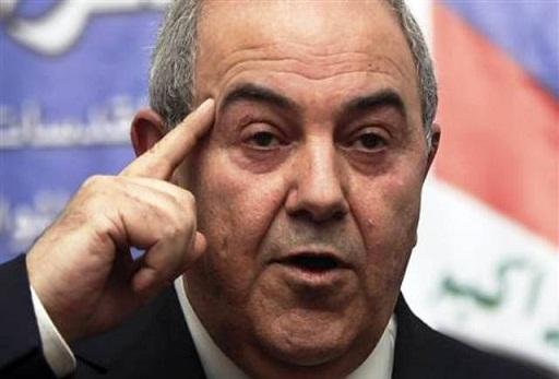 علاوي: حزام بغداد سقط وتقسيم العراق ممكن جداً