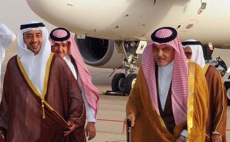 عبدالله بن زايد يلتقي سعود الفيصل في جده