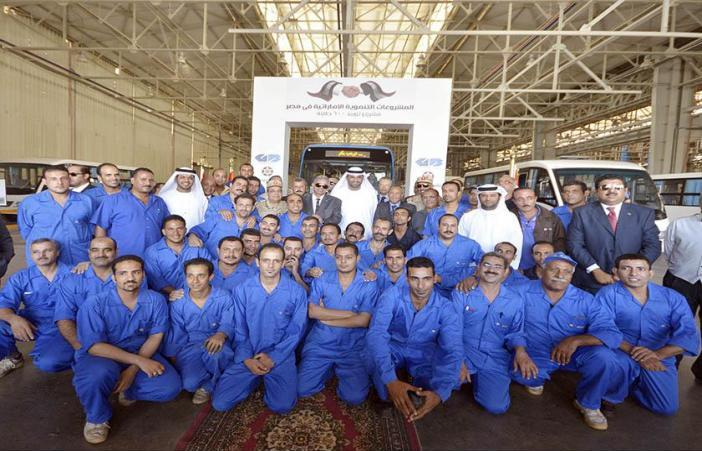 مشروع إماراتي بتوفير 600 حافلة نقل عام لمصر