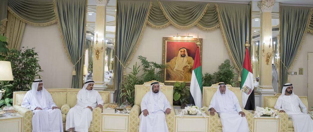 لأول مرة منذ أعوام.. خليفة يستقبل حكام الإمارات للتهنئة بالعيد