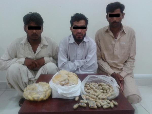 ثلاثة تجار مخدرات في قبضة الشرطة بدبي