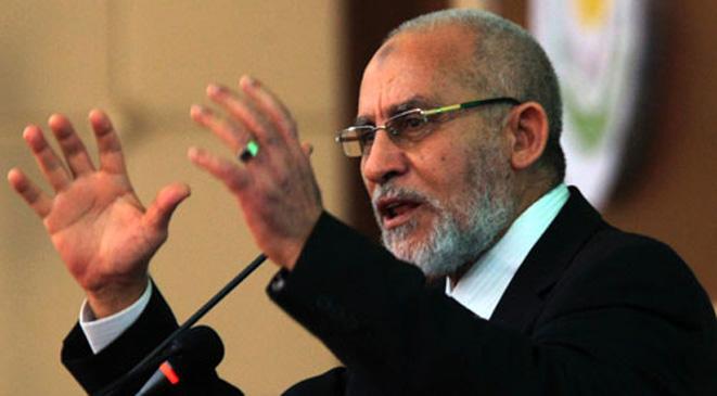 إلغاء حكما بإعدام مرشد الإخوان في مصر